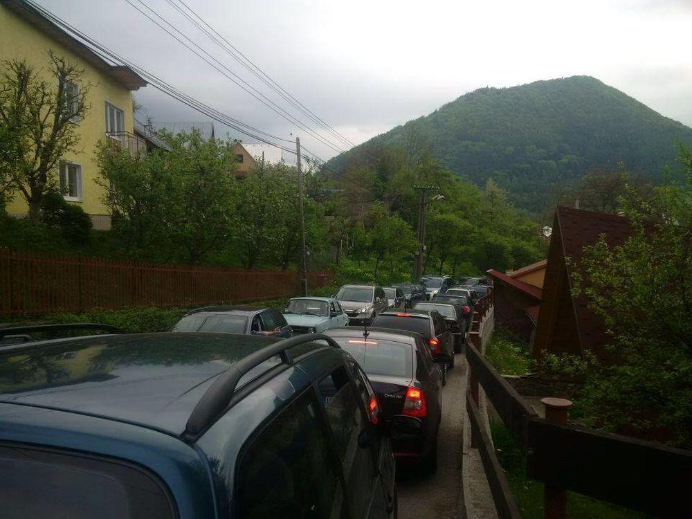 Zápcha v mestskej časti Vranie, foto 1