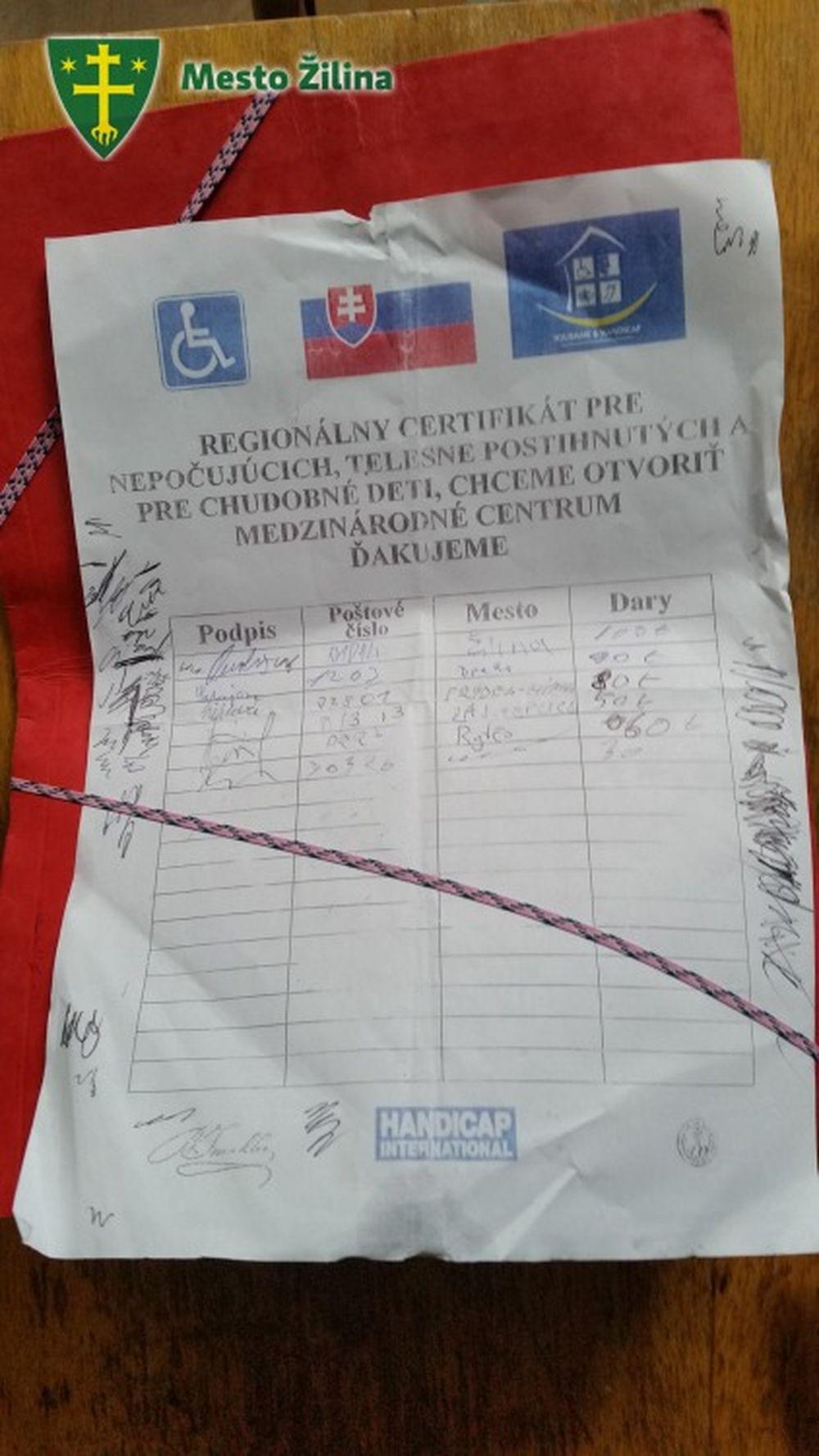 Falošné zbierky Žilina Rumuni, foto 1