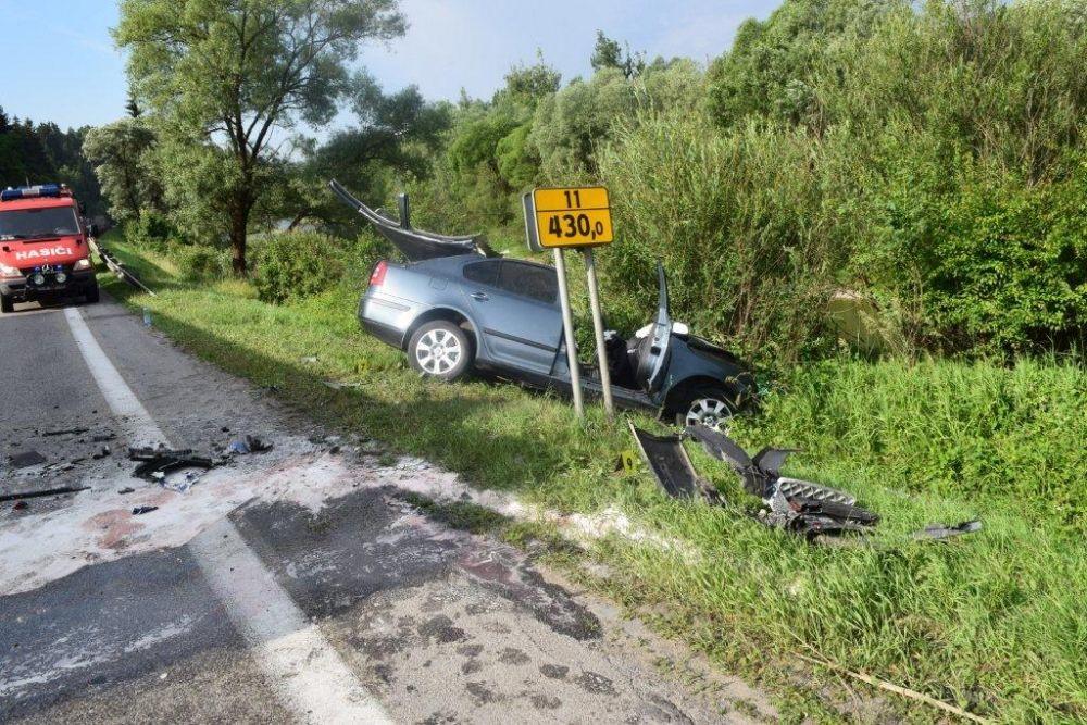 Dopravná nehoda Kysucký Lieskovec 06/2015, foto 1