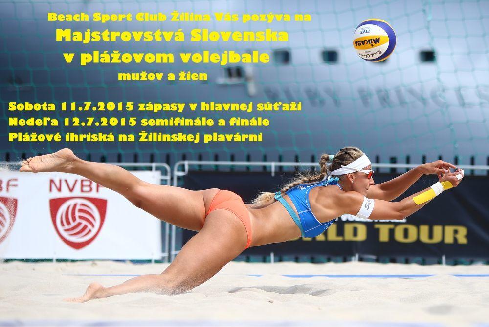 Majstrovstvá Slovenska v plážovom volejbale 2015 v Žiline , foto 2