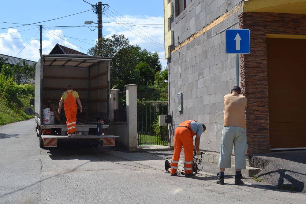 Nová jednosmerná cesta na ulici Majerská, časť Rosinky, foto 6
