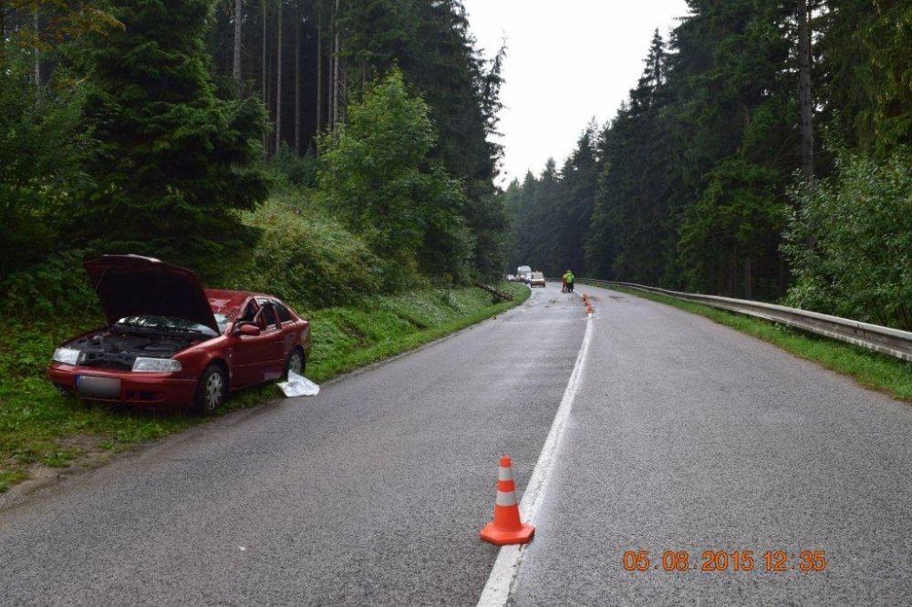Pri Námestove spadol na auto za jazdy strom, foto 1