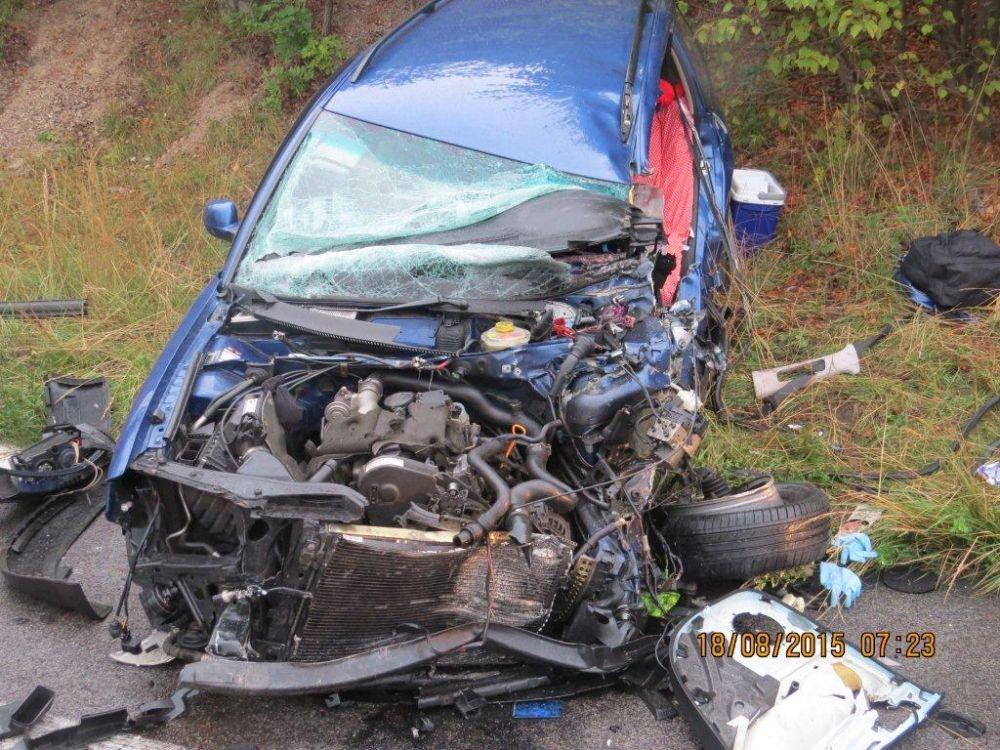 Tragická nehoda pri Strečne 18.8.2015, foto 3