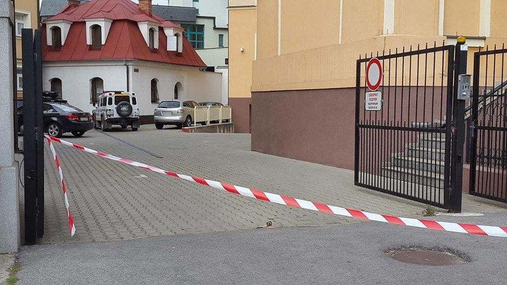 Ohlásená bomba v budove žilinského súdu, foto 3