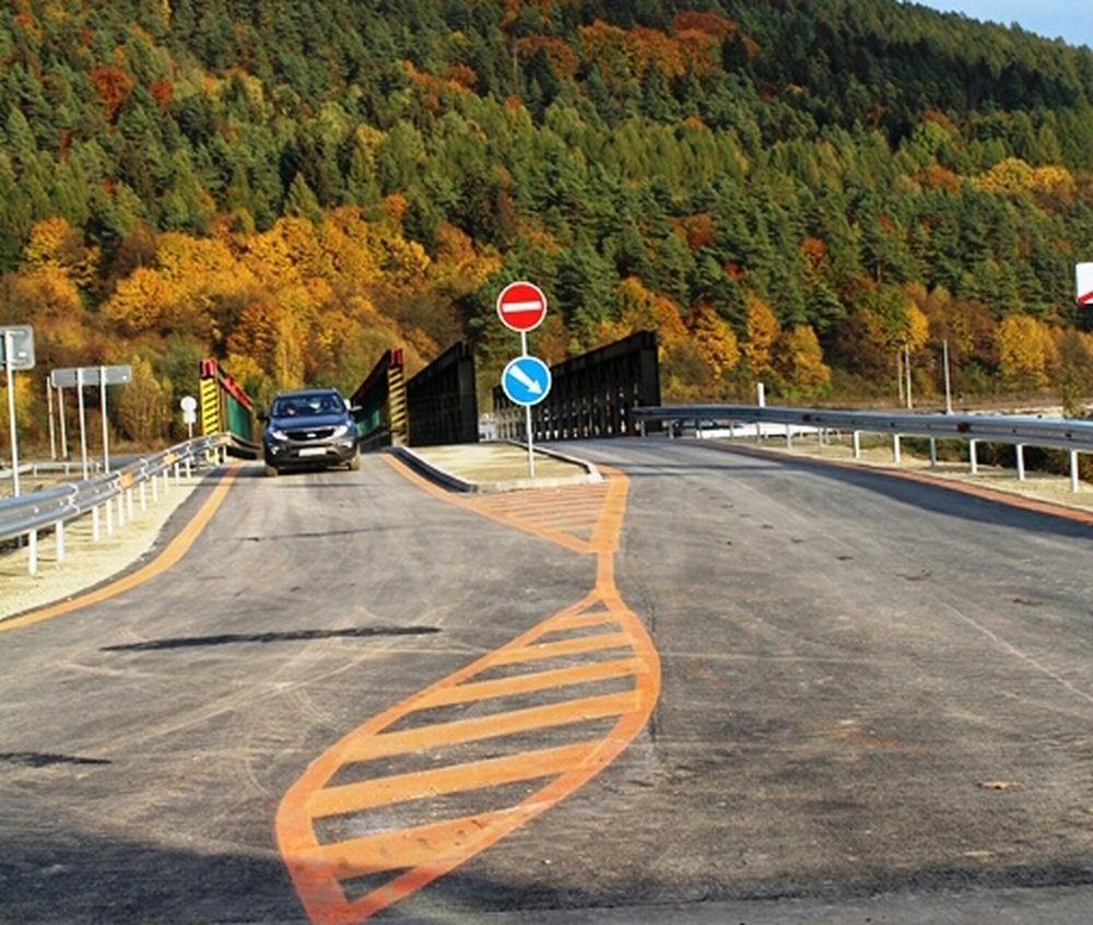 Otvorenie dočasného mosta vo Vraní, foto 3