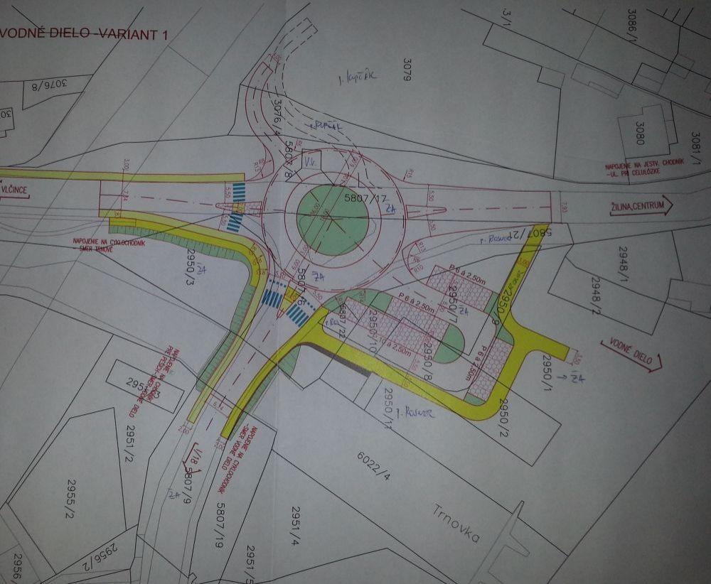 Plánovaný kruhový objazd na Rosinskej ceste, foto 1