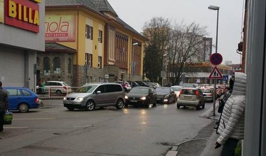 Kolaps dopravy v Žiline - 18.12.2015, foto 1