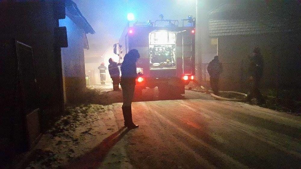 Požiar rodinného domu v Mojši 20.1.2016, foto 3