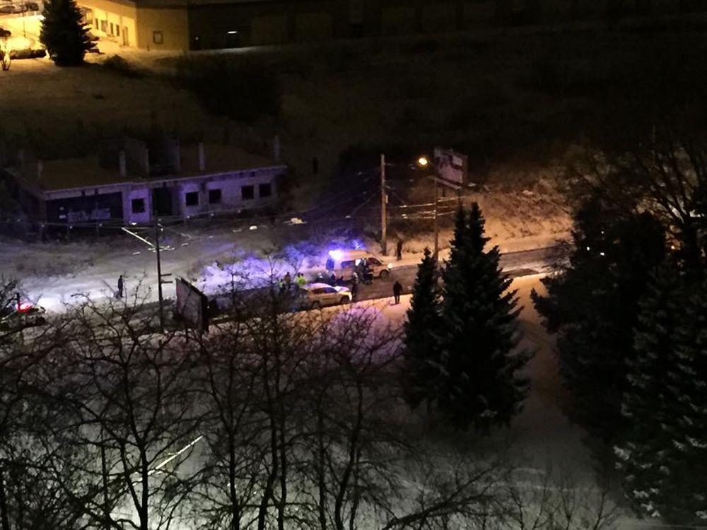 Dopravná nehoda, sídlisko Vlčince - 21.1.2016, foto 1