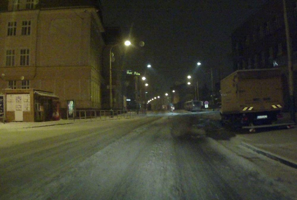 Stav ciest v Žiline po hustom snežení 24.1.2016, foto 3