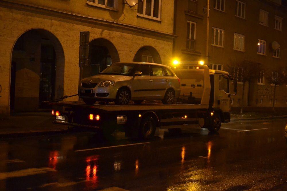 Dopravná nehoda na križovatke Bernolákova - Fándlyho - 28.1.2016, foto 1