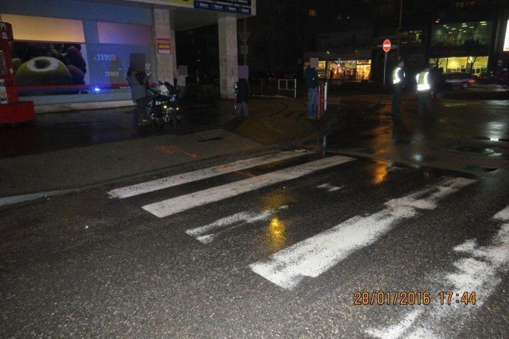Vodič zrazil chodkyňu na križovatke ulíc Fándlyho a A.Bernoláka, foto 2