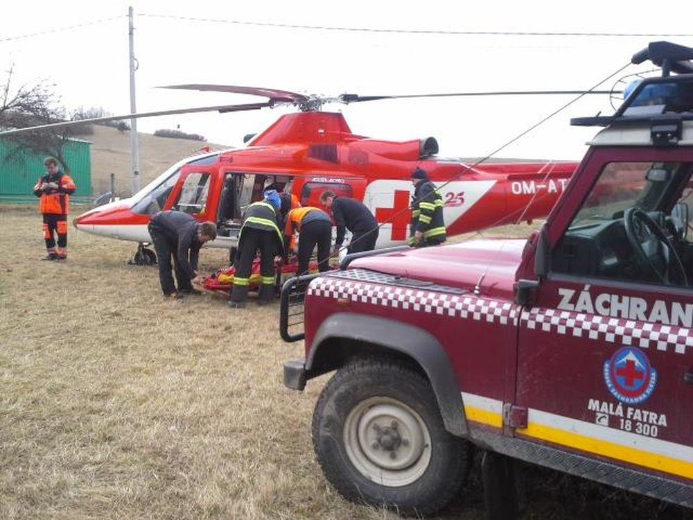 Záchranná akcia horských a leteckých záchranárov v obci Belá, foto 3