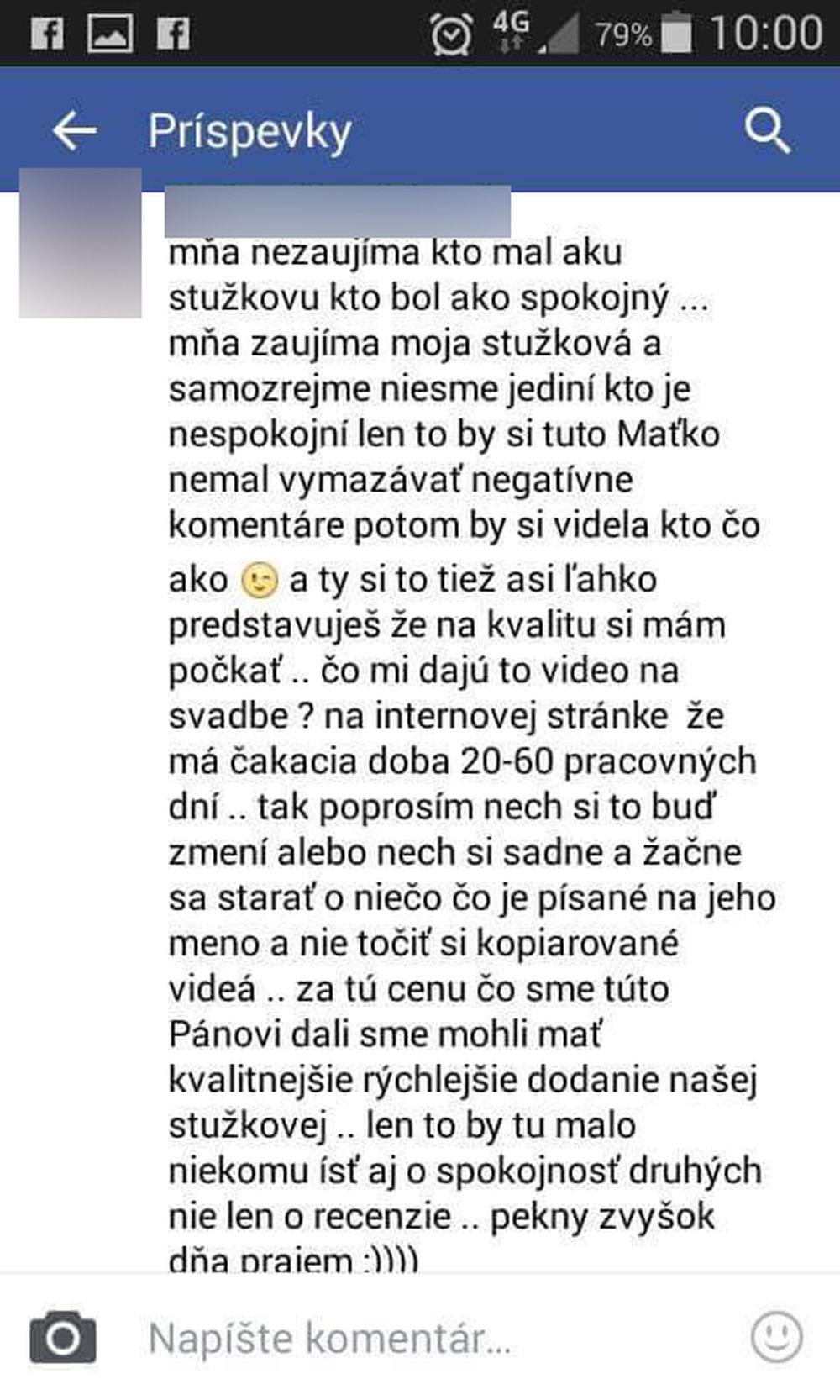 Nespokojní zákazníci spoločnosti, ktorá mala dodať video zo Stužkovej, foto 1