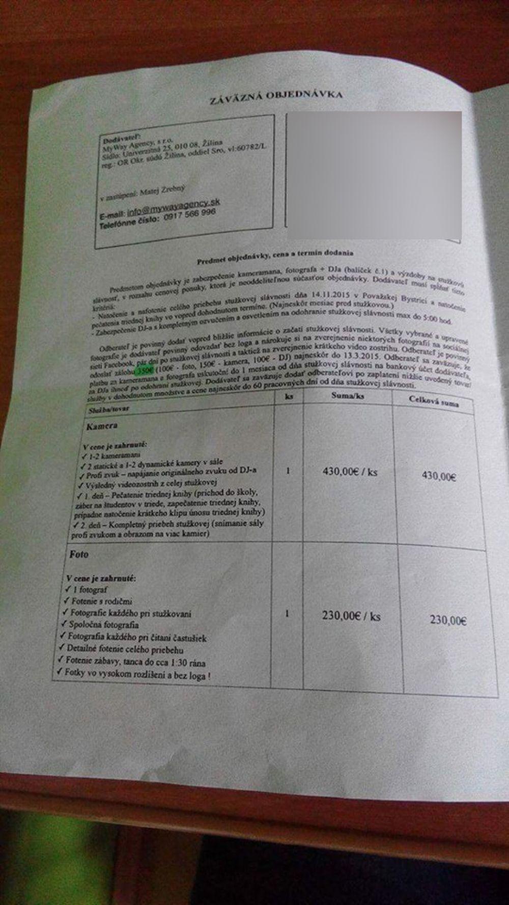 Nespokojní zákazníci spoločnosti, ktorá mala dodať video zo Stužkovej, foto 6