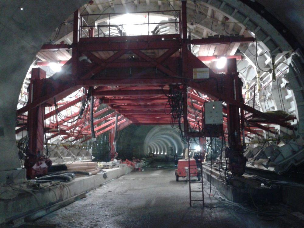 Fotografie z tunela Poľana pri Čadci - 3.4.2016, foto 1