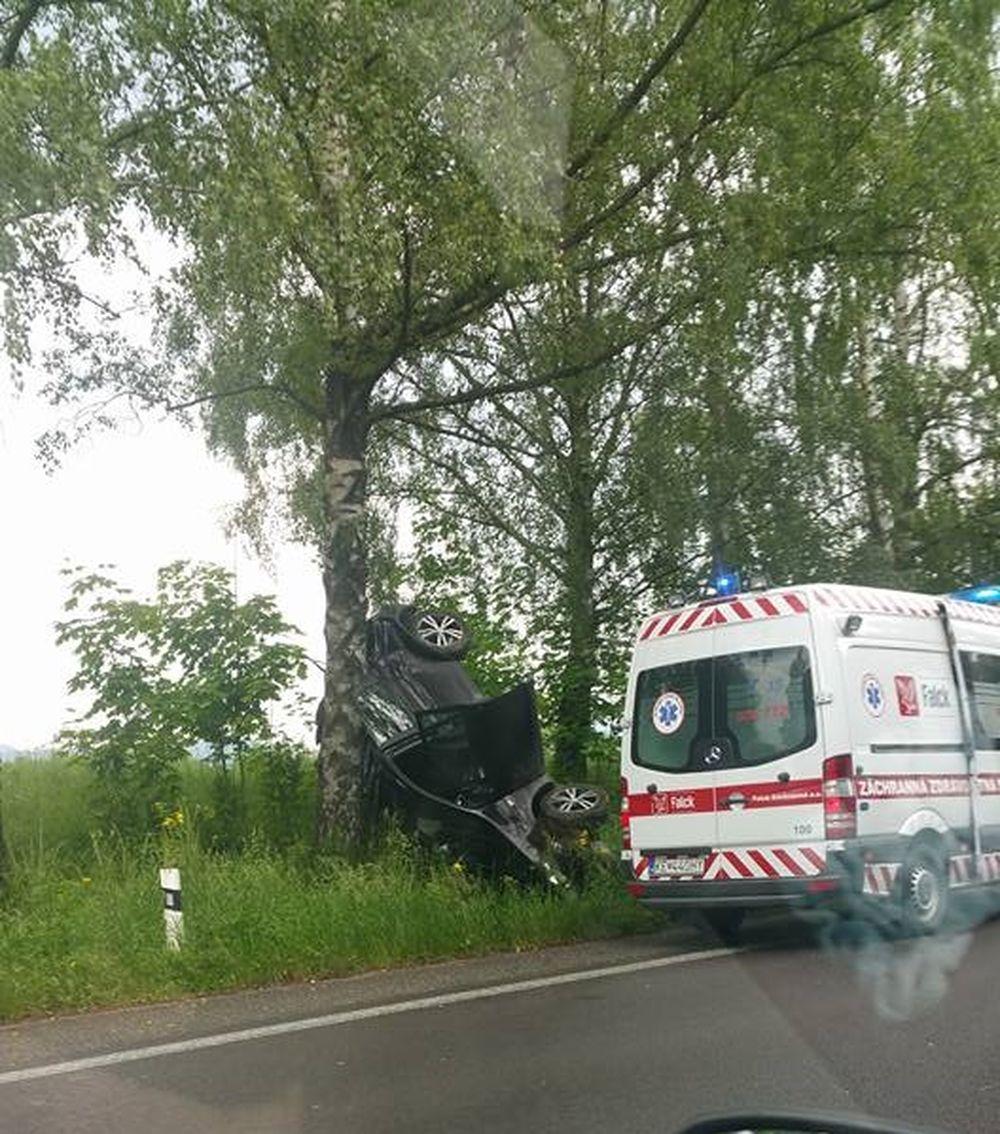 Dopravná nehoda pri Mojšovej Lúčke 29.5.2016, foto 3