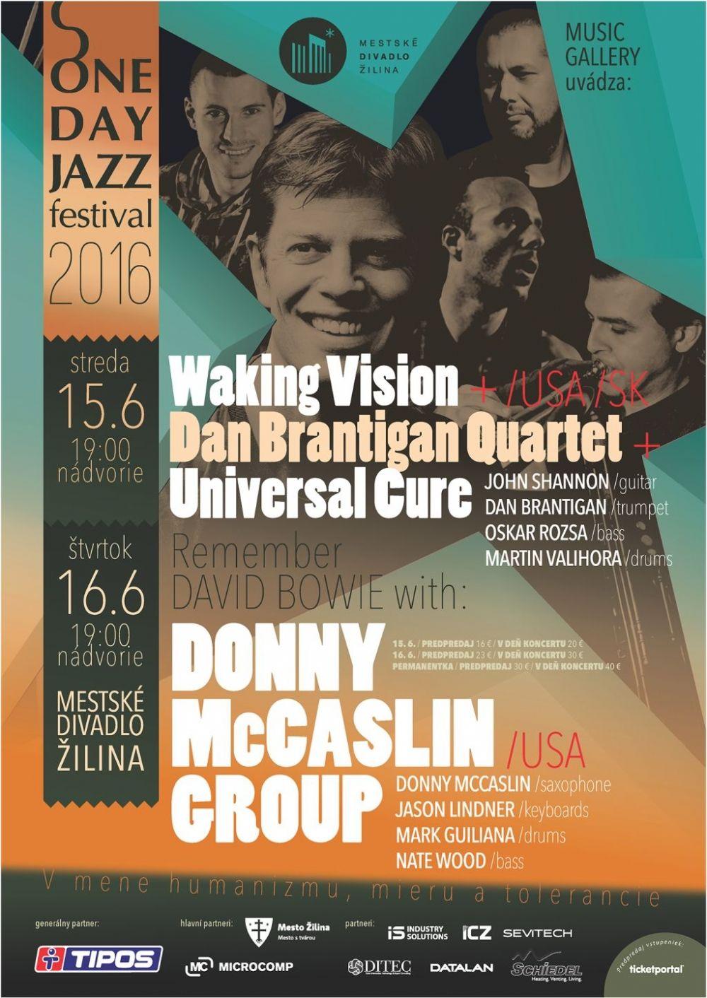 One Jazz Day Žilina 2016 - pozvánka, foto 3