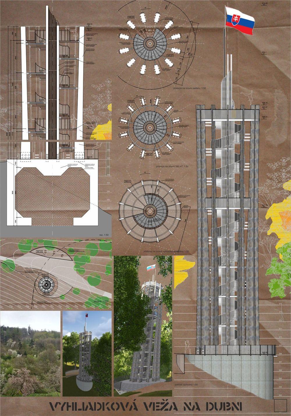 Súťažné návrhy Výhliadková veža na Dubni, foto 1