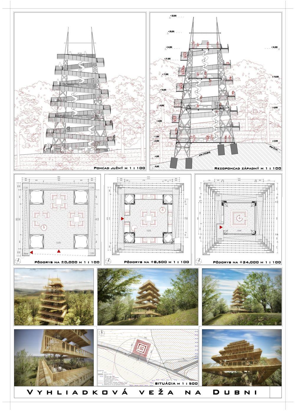 Súťažné návrhy Výhliadková veža na Dubni, foto 10