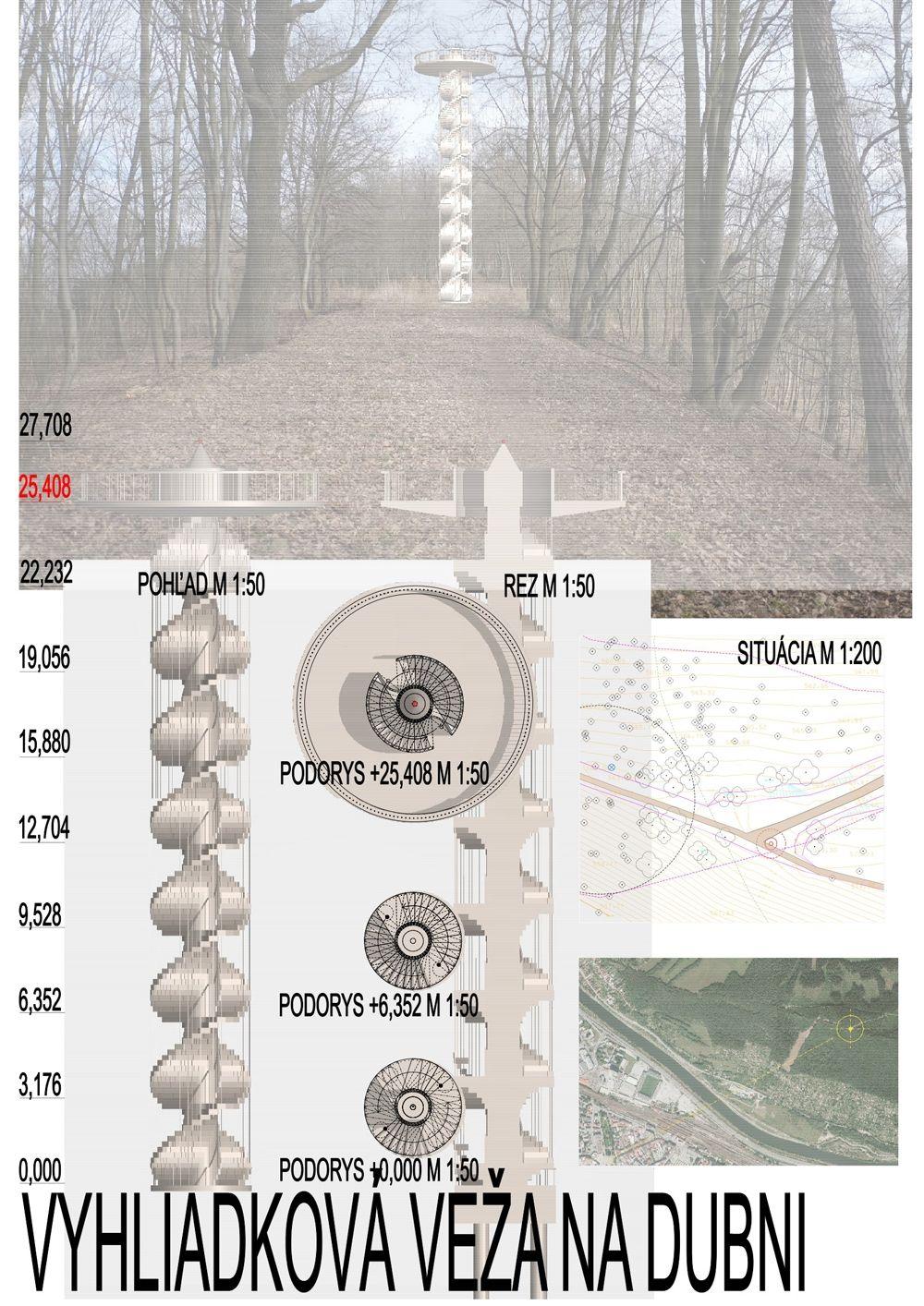 Súťažné návrhy Výhliadková veža na Dubni, foto 13