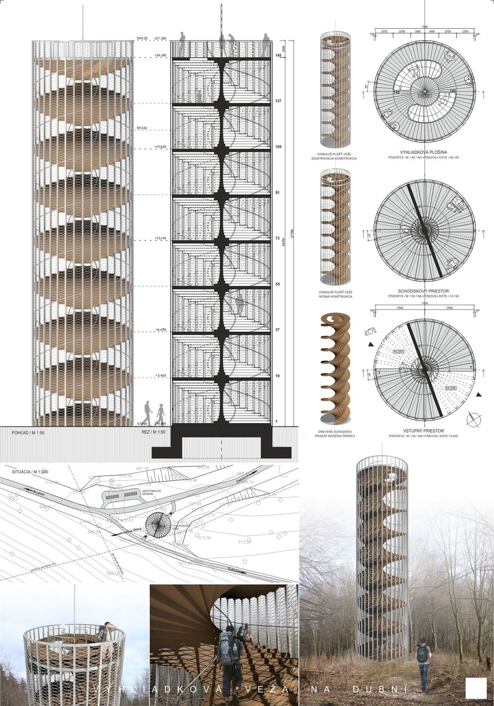 Súťažné návrhy Výhliadková veža na Dubni, foto 15