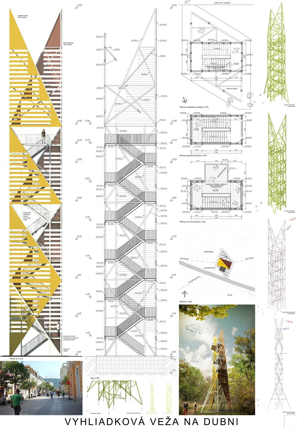 Súťažné návrhy Výhliadková veža na Dubni, foto 18
