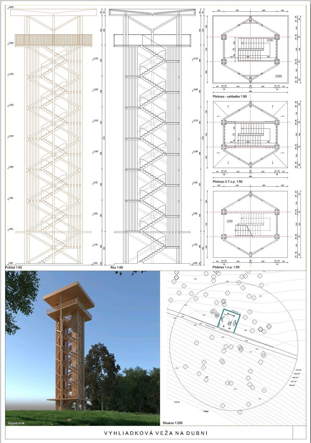 Súťažné návrhy Výhliadková veža na Dubni, foto 23