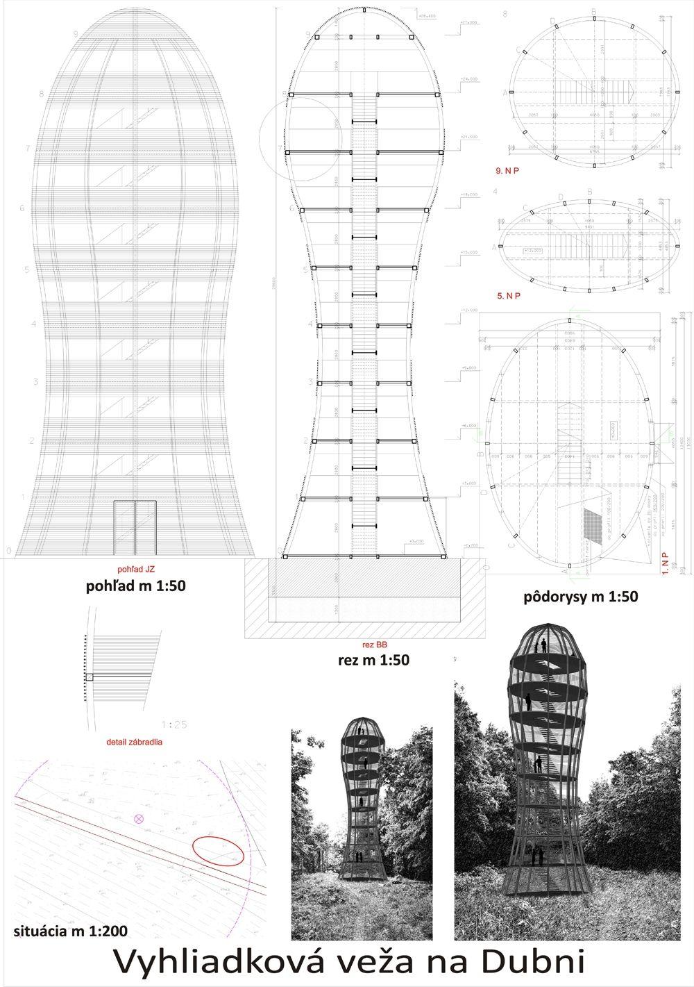 Súťažné návrhy Výhliadková veža na Dubni, foto 33