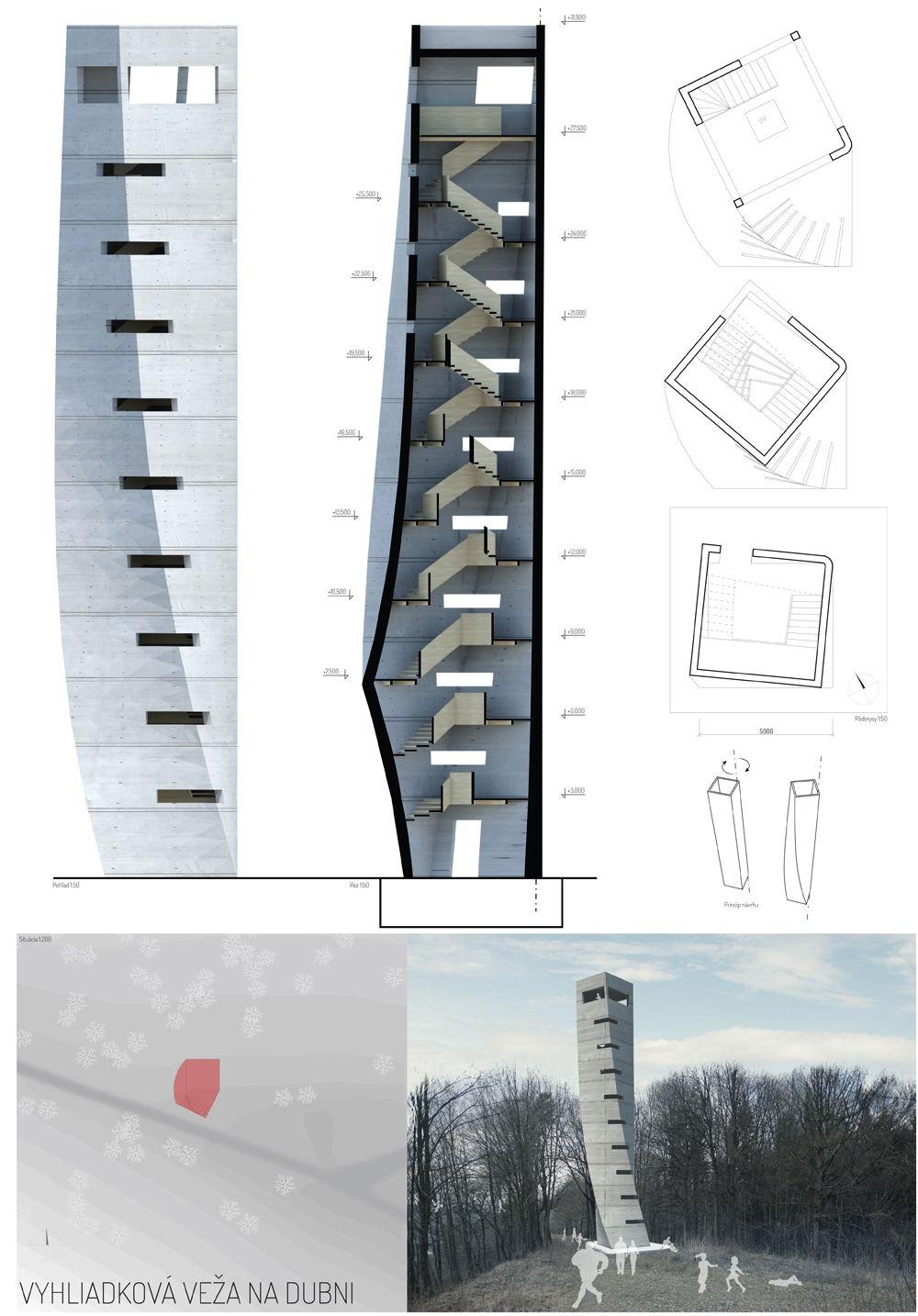 Súťažné návrhy Výhliadková veža na Dubni, foto 34