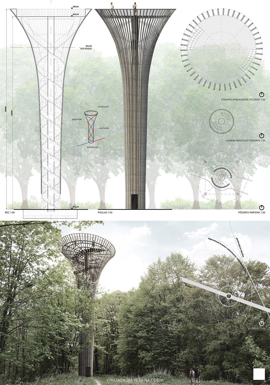 Súťažné návrhy Výhliadková veža na Dubni, foto 36