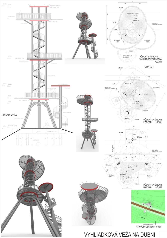 Súťažné návrhy Výhliadková veža na Dubni, foto 37
