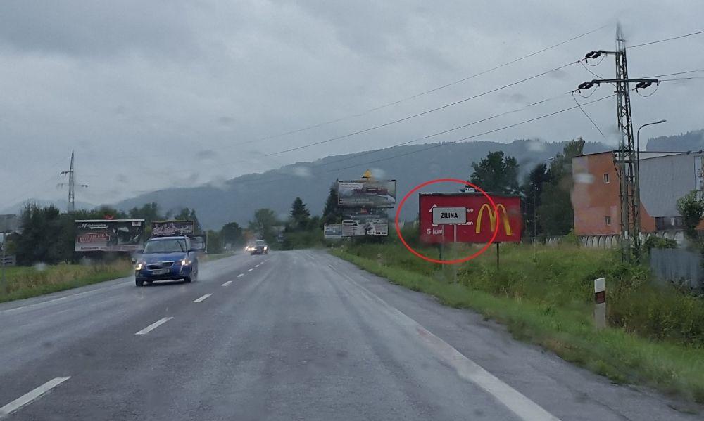 Posunutá dopravná značka začiatku a konca obce - Žilina, Šibenice, foto 2