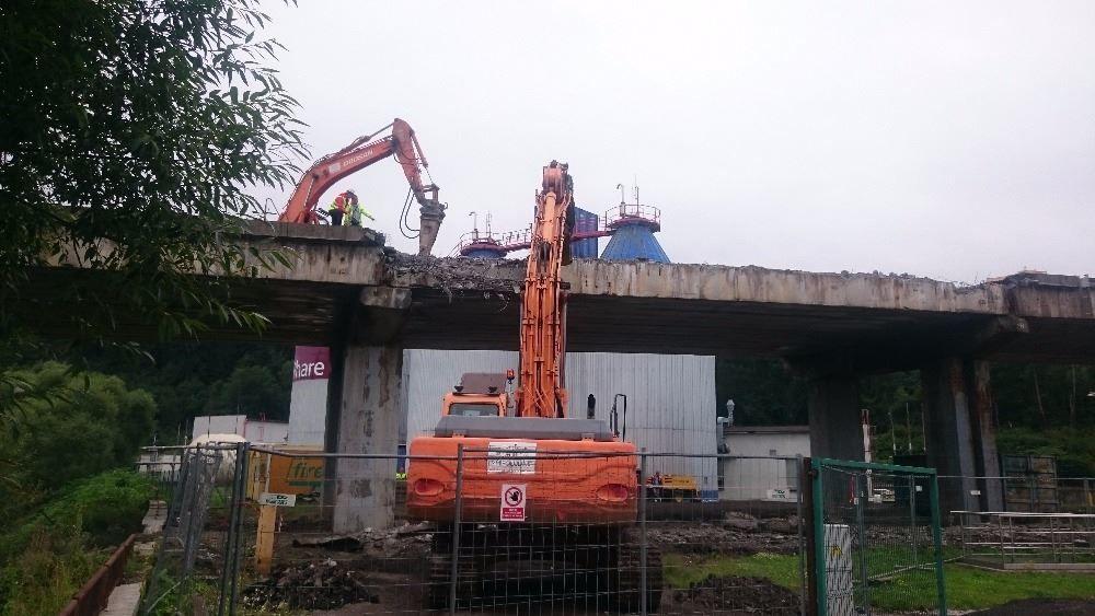 Demolácia mosta Horelica v Čadci, foto 1