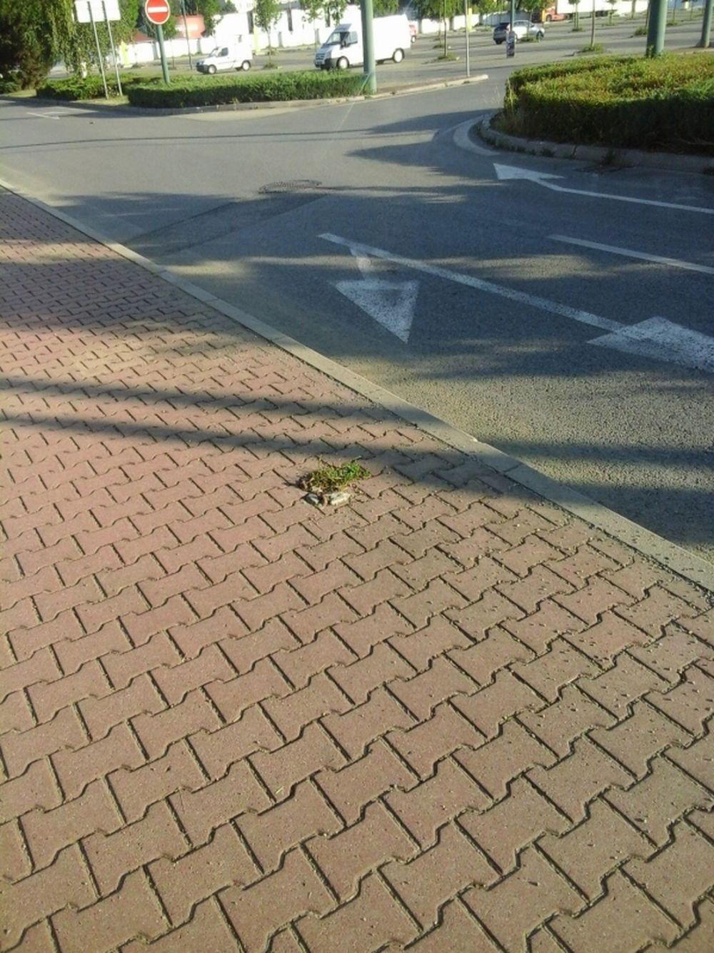 Výbežky na chodníkoch ul. Vysokoškolákov Žilina, foto 2