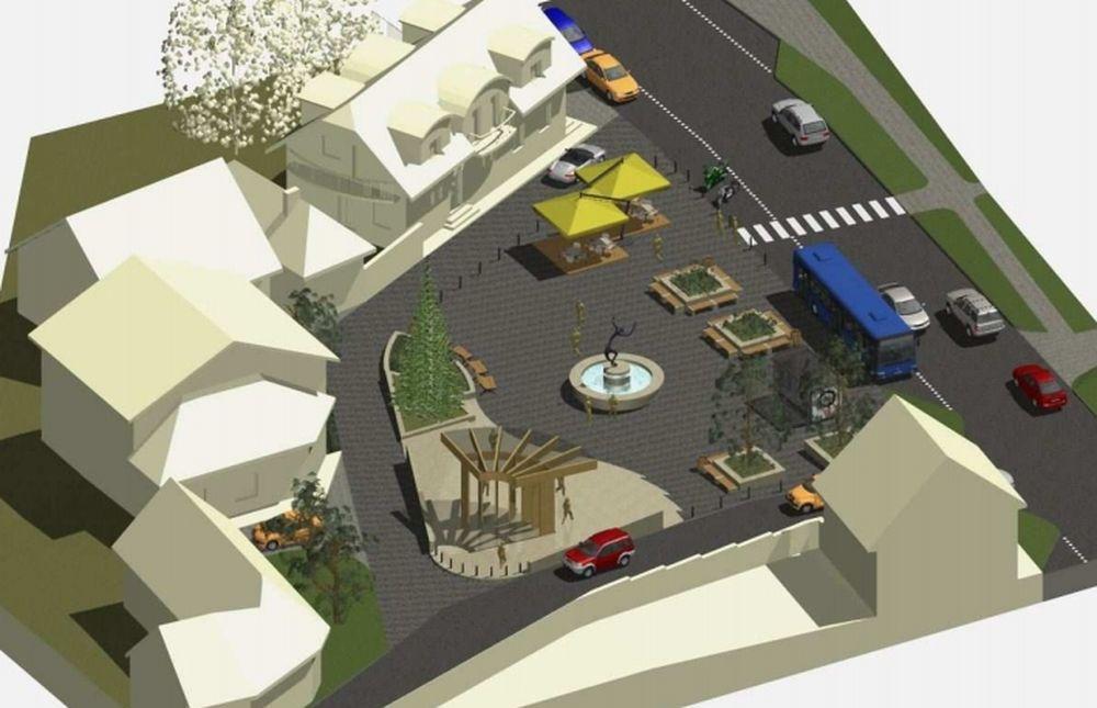 Nové námestie v obci Veľké Rovné, foto 2