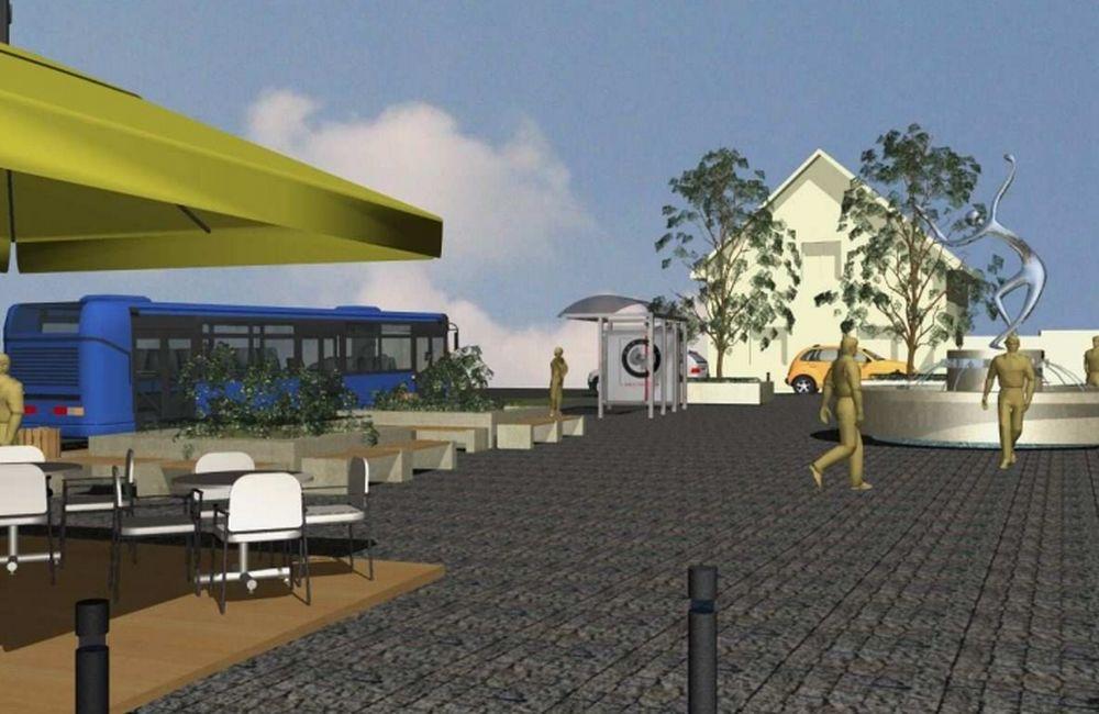 Nové námestie v obci Veľké Rovné, foto 3