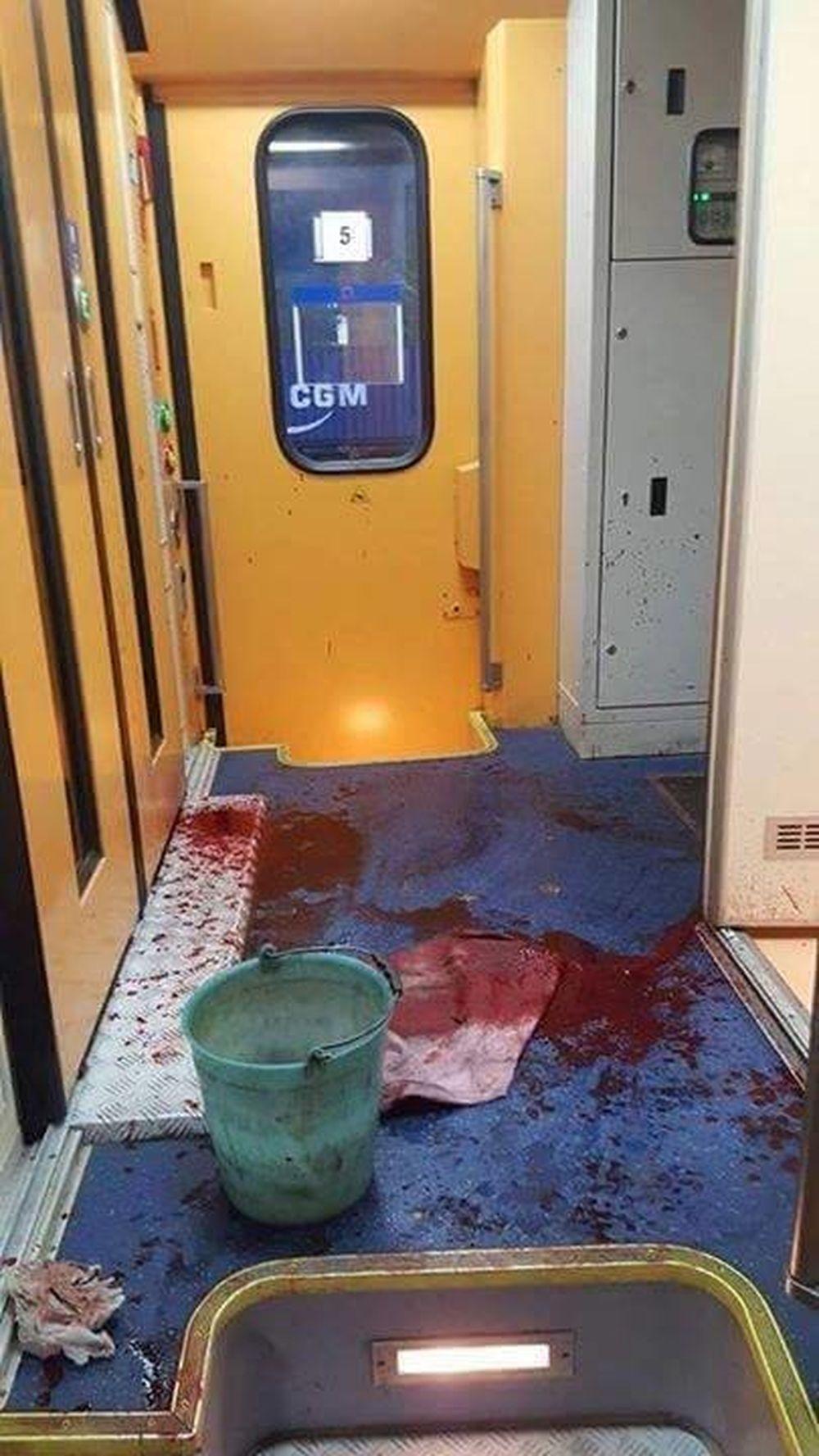 Výtržník vo vlaku na stanici v Žiline, foto 1