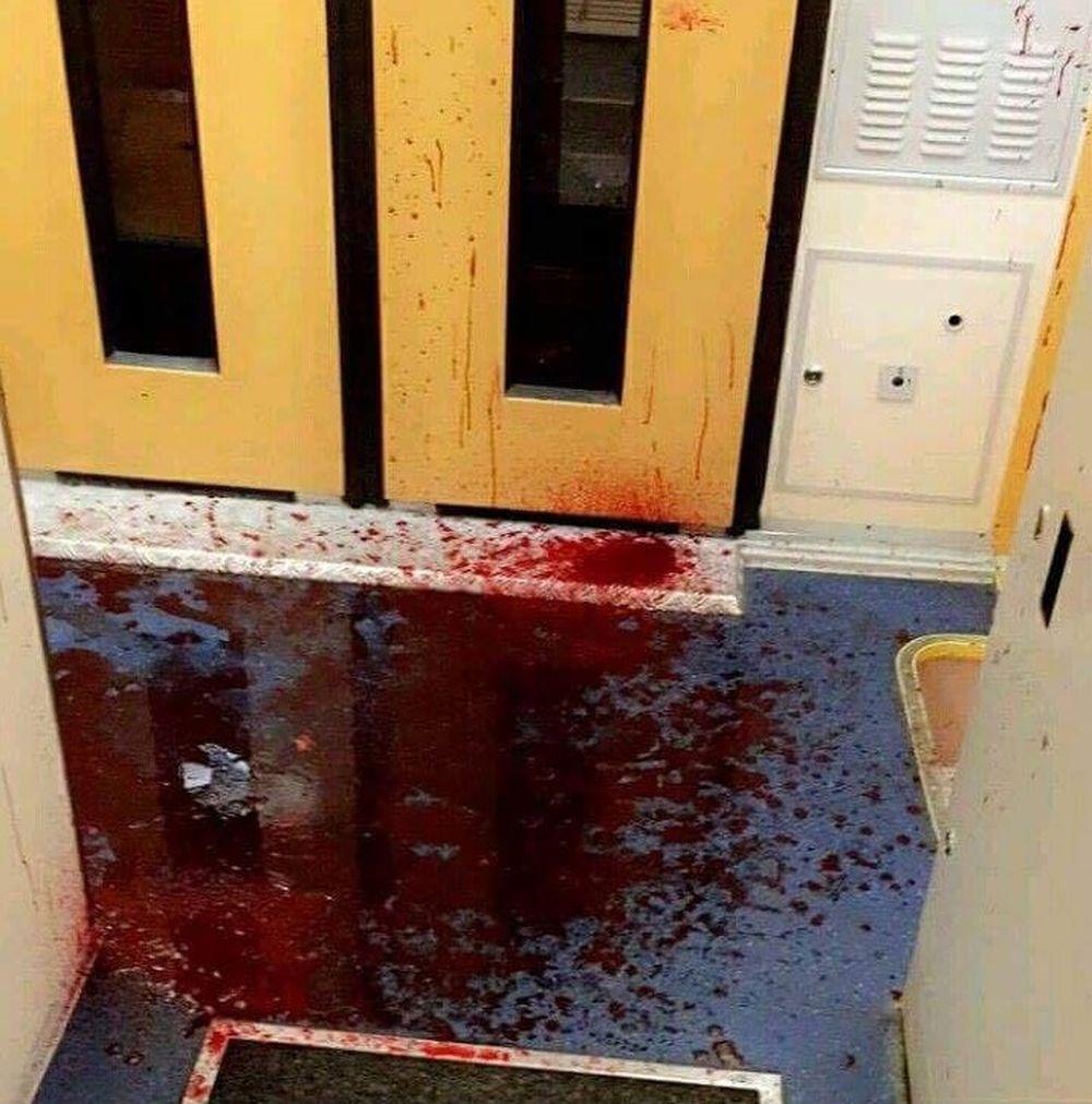 Výtržník vo vlaku na stanici v Žiline, foto 2