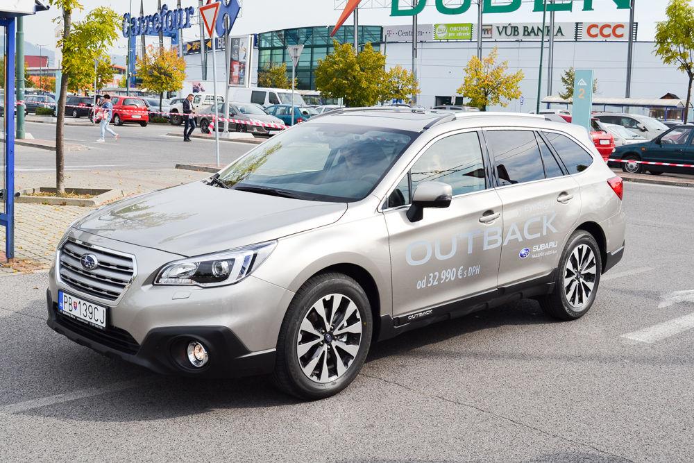 Test Subaru Eyesight na parkovisku pri OC Dubeň, foto 1