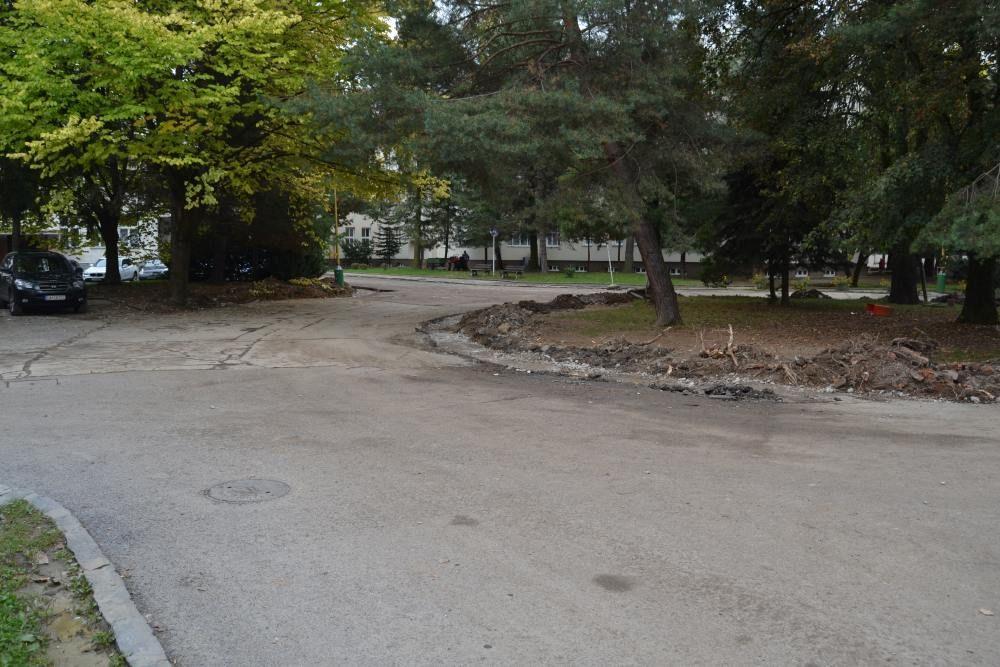 Práce na rekonštrukcii parkoviska v areáli žilinskej nemocnice, foto 6