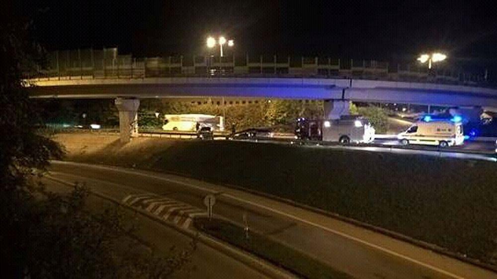 Dopravná nehoda na ulici Mostná - 14.10.2016, foto 1