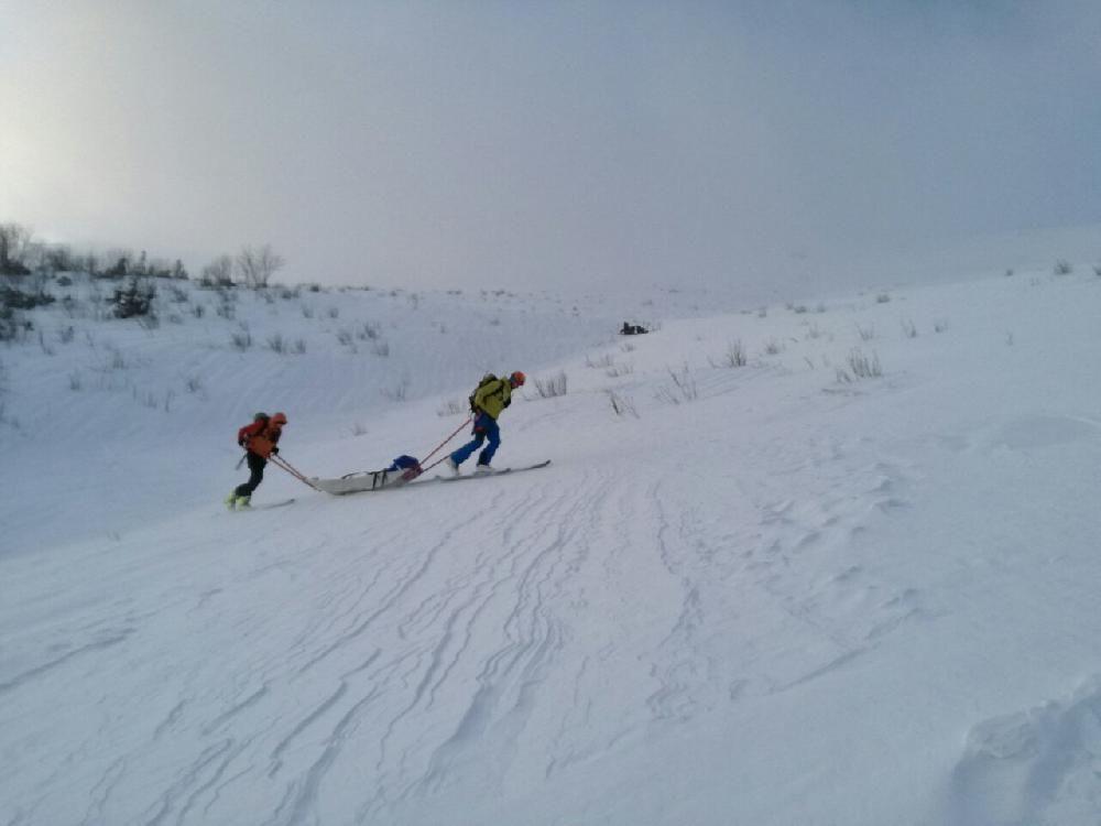 Zranený skialpinista Malá Fatra 29. decembra 2016, foto 3