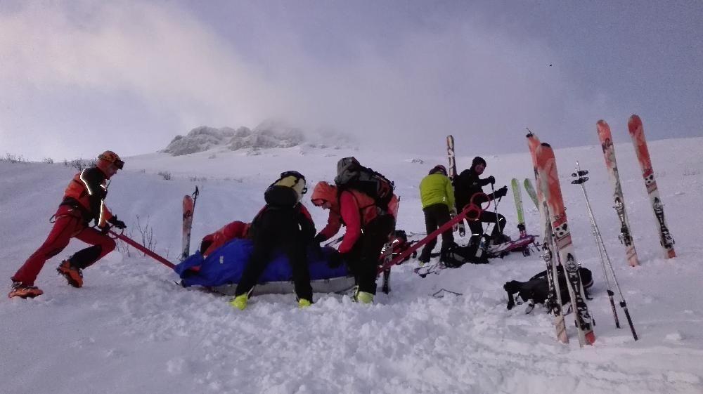 Zranený skialpinista Malá Fatra 29. decembra 2016, foto 4