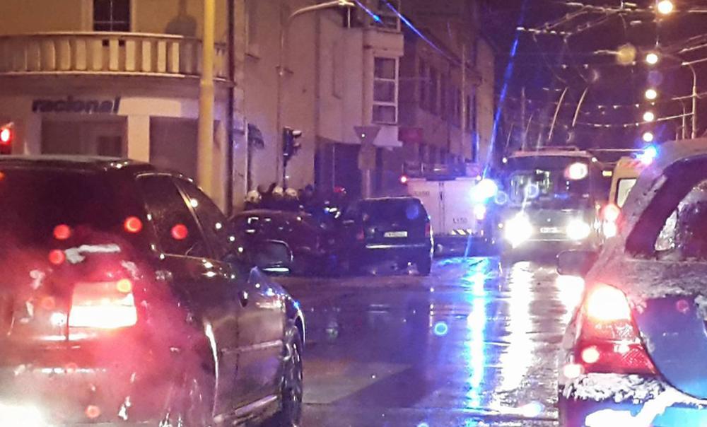 Vážna dopravná nehoda Komenského ulica 03.01.2017, foto 1