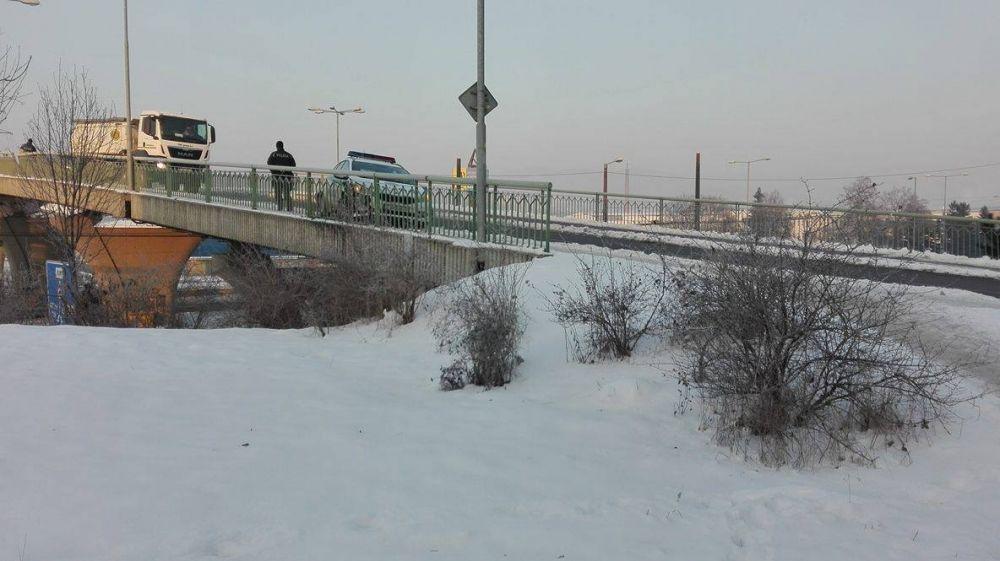 Nehoda policajnej hliadky na ulici Kamenná, foto 2