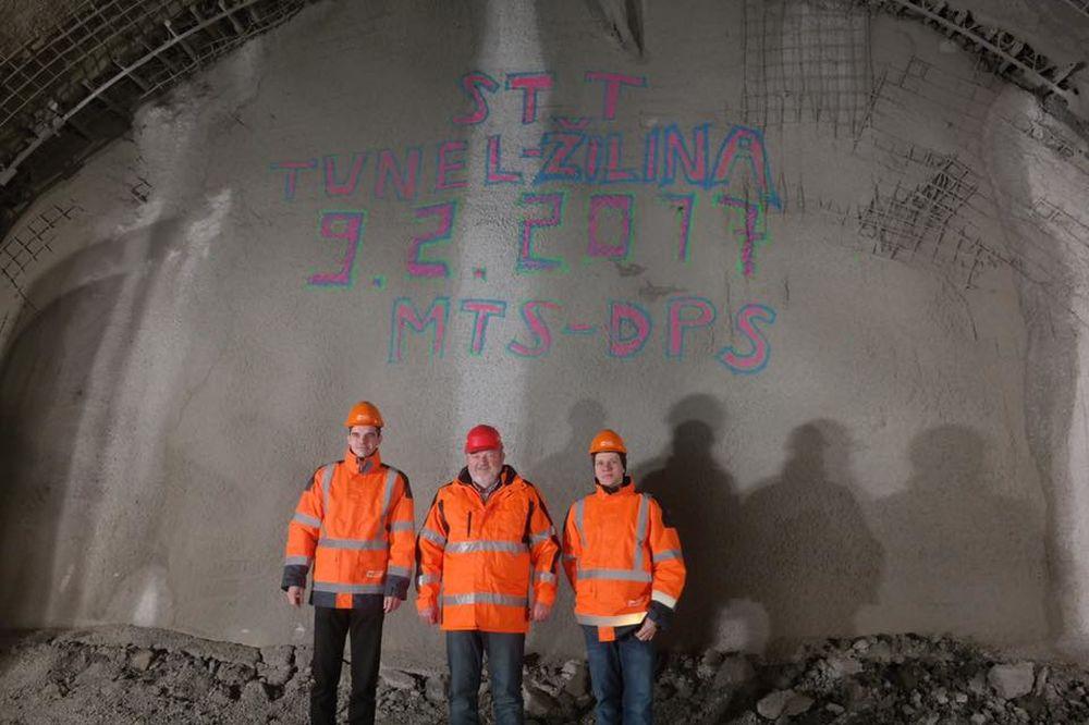 Prerazenie druhej rúry tunel Žilina, foto 1
