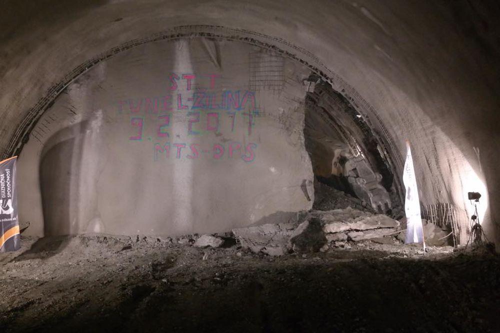 Prerazenie druhej rúry tunel Žilina, foto 3