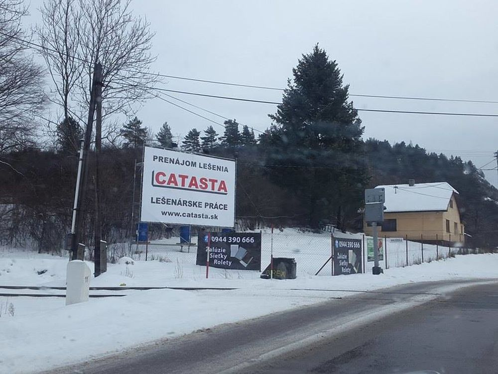 Reklamná plocha v obci Porúbka pri Žiline, foto 2