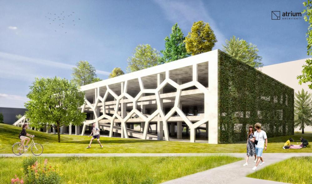 Parkovací dom Osiková ulica - návrh architektonické štúdio Atrium, foto 1